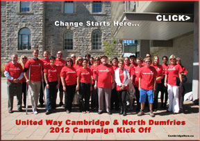 Cambridge North Dumfries United Way 2012 launch