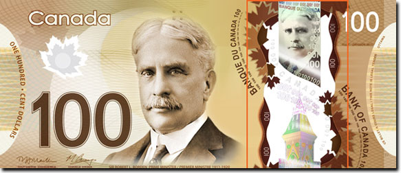 Canada's New Plastic Polymer Bank Notes, Now Media