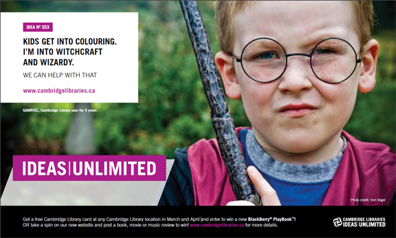 Gabriel Cambridge Libraries Branding Ideas Unlimited - on Cambridge Now Media