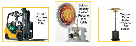 Sunny Hill Gas, Foklift Propane tanks refill, Patio Heaters,Construction Warehouse Heaters