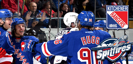 Rangers Dominate Play In Win Over Spits
